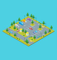 parking zone concept 3d isometric view vector image vector image