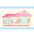 pastel cute doll house vector image