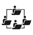 people work cohesion icon simple style vector image