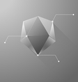 Polygon info graphic vector image