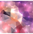 Polygonal shine background vector image