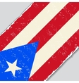 Puerto Rican grunge flag vector image vector image
