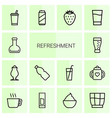 refreshment icons vector image vector image