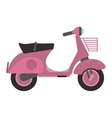Retro scooter vector image