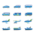 Road air rail and water transport vector image vector image