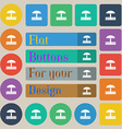 Sandbox icon sign Set of twenty colored flat round vector image