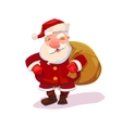 Santa with bag vector image vector image