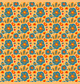 seamless pattern with blue flowers vector image vector image