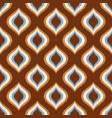 seamless retro geometric mesh ornament wallpaper p vector image
