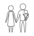 sketch silhouette of pictogram parents with a vector image