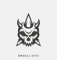 skull logo design vector image