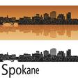Spokane skyline in orange vector image vector image