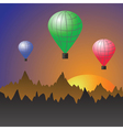 stratospheric balloons vector image vector image