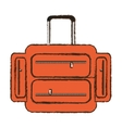 suitcase travel equipment color sketch vector image vector image