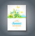 summer motif vector image