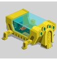 Underwater bunker with a living room and furniture vector image vector image