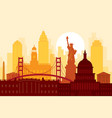 united states america usa landmarks urban vector image vector image