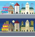 Urban City Landscape of Night and Day vector image vector image