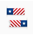 USA paper tags star and stripes vector image vector image