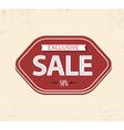 vintage sale label vector image vector image