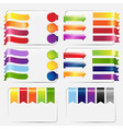 Web Ribbons Set vector image vector image