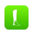 women high boots icon digital green vector image vector image