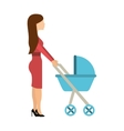 mother with baby isolated icon vector image