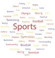 Text sports banner vector image