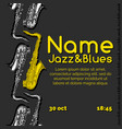 jazz and blues poster vector image