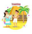 summer tropical beach rest concept vector image