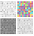 100 park icons set variant vector image