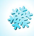 3d snowflake vector image vector image