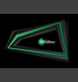abstract black and green tech corporate background vector image vector image
