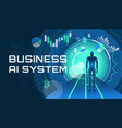 an of an ai business system vector image vector image