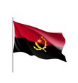 angola realistic flag vector image