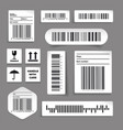 barcode label set stickers vector image