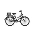 bicycle sign icon in flat style bike on white vector image vector image
