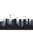 buildings under construction and building cranes vector image