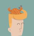 Businessman brain power vector image vector image