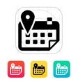 Calendar with location icon vector image