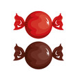 cartoon candies red and chocolate design vector image