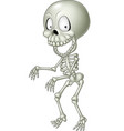cartoon funny human skeleton vector image vector image