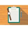 checklist clipboard reminder vector image vector image