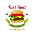 Cheeseburger fast food burger emblem