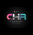 chr c h r three letter logo icon design vector image vector image