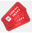 cinema ticket isolated vector image vector image