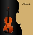 Classical acoustic violin on black
