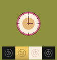 clock icon flat pink simple vector image vector image