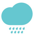 clouds with the drops blue vector image vector image