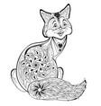 cute little fox print for logo or tattoo kids